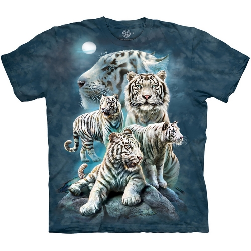 Night Tiger Collage Tijgershirt