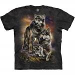 Wolf Family Sunrise Dierenshirt