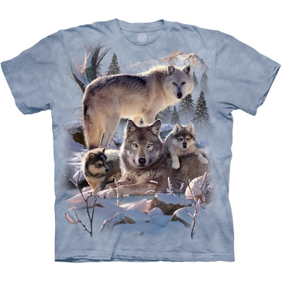 Wolf Family Mountain Dierenshirt