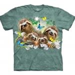 Sloth Family Selfie Luiaardshirt