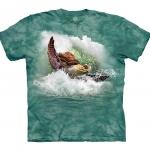 Surfin' Sea Turtle Schildpadshirt