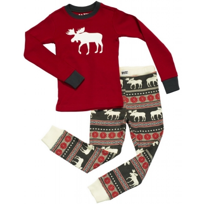Kinder Pyjama Moose Fair Isle